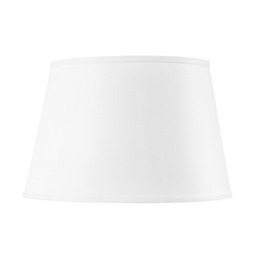 Shade 16-inch with Nickel, White Linen