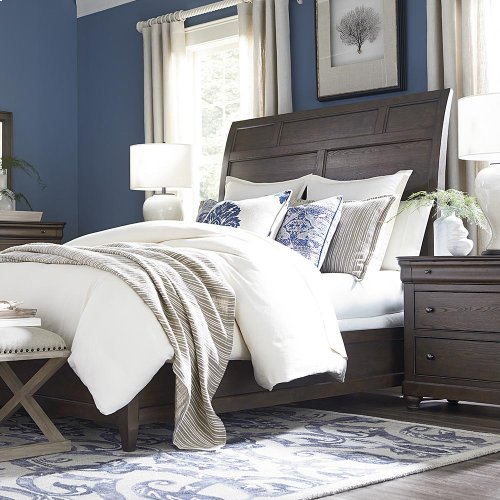 Cal King/Provence Cobblestone Provence Sleigh Bed