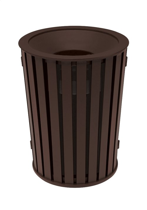 District Round Waste Receptacle, Slat