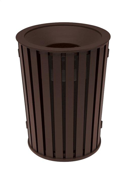 District Round Waste Receptacle, Slat