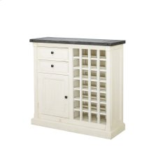 Cintra Wine Cabinet-rust Blk Olive/sn Wh