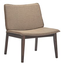 Evade Upholstered Fabric Lounge Chair in Walnut Latte