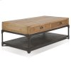 Olie - Coffee Table With 6 Drawers, 1 Metal Shelf