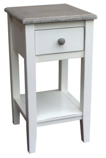 Mission Accent Table-rw/wht