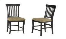 Venetian Dining Chairs Set of 2 with Cappuccino Cushion in Espresso