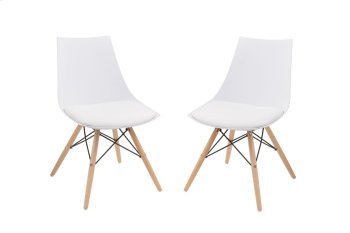 Emerald Home Annette Dining Chair White Seat-wood Legs D118chr-32wht Product Image