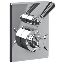Black lever concealed Godolphin thermostatic mixing valve trim only, to suit M1-4201 rough
