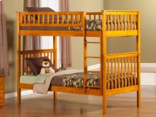 Woodland Bunk Bed Twin over Twin in Caramel Latte