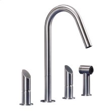 4 hole kitchen mixer with side-spray