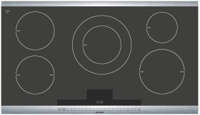 36 Induction Cooktop with SteelTouch Control and AutoChef® 800 Series - Black with Stainless Steel Strips