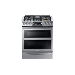 Samsung5.8 cu. ft. Slide-in Dual Fuel Range with Flex Duo & Dual Door in Stainless Steel