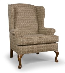 High Back Chair with Oak Queen Anne legs