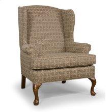 High Back Chair with Oak Queen Anne legs