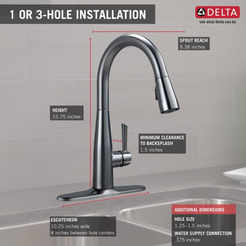 9113ardst In Arctic Stainless By Delta Faucet Company In Raleigh Nc