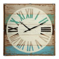 Weathered Wall Clock with Rope Trim. Product Image