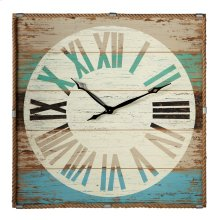 Weathered Wall Clock with Rope Trim.