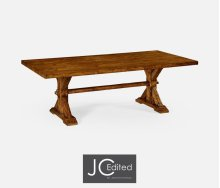 """90"""" Solid Country Walnut Dining Table"""