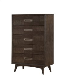 Emerald Home Millenium 5 Drawer Chest Weathered Oak B218-05