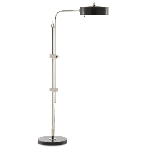 Abram Nickel Floor Lamp