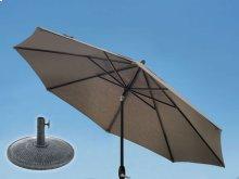 9.0' Umbrella with 9' & 11' Umbrella Extension Pole and Sun Beam Umbrella Base