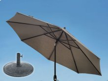 9.0' Umbrella, 9' & 11' Umbrella Extension Pole, Sun Beam Umbrella Base