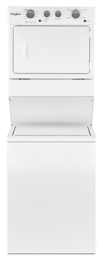 3.5 cu.ft Gas Stacked Laundry Center 9 Wash cycles and AutoDry  WHITE