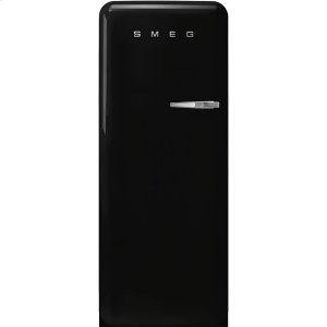 "Smeg24"" retro-style fridge, Black, Left-hand hinge"