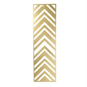 Gold Metal Chevron Wall Decor