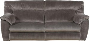 Lay Flat Reclining Console Loveseat w/Strg & Cupholders - Granite
