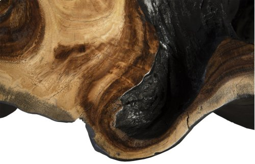 Chamcha Wood Side Table, Burnt Edge