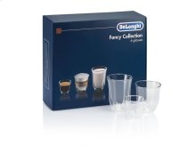 DeLonghi US Fancy Collection of Mixed Espresso Beverage Glasses