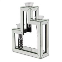Mirrored Glass Vase- 3 Tier