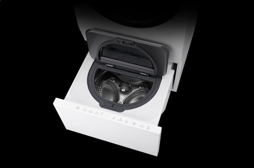 LG SIGNATURE: 0.7 cu. ft. LG SideKick Pedestal Washer  WHITE