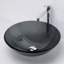 Montana Round Above-counter Glass Sinks - Transparent Black