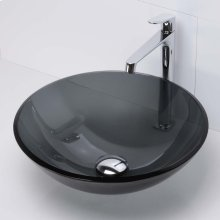 Montana Round Above-counter Glass Sinks - Transparent Black