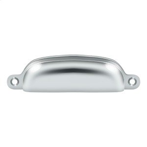 """Exposed Shell Pull 4"""" - Polished Chrome"""