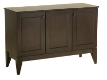 "50"" 3 Door Buffet, Solid Maple Top With Eased Edge Square Wood Knobs, Tapered Foot, 1 Fixed Half Shelf"
