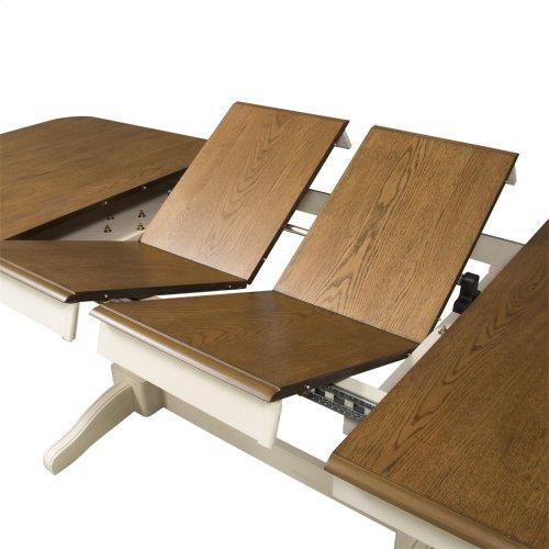 7 Piece Double Pedestal Table Set