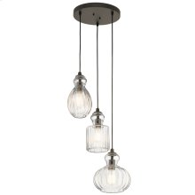 Riviera Collection Riviera 3 Light Pendant OZ