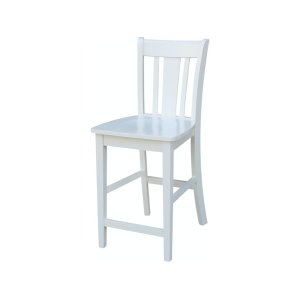 JOHN THOMAS FURNITURE San Remo Stool In Pure White