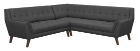 2pc Sectional-lsf Sofa-rsf Corner Sofa-charcoal