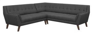 2pc Sectional-lsf Sofa-rsf Corner Sofa-charcoal
