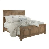 Florence Traditional Rustic Smoke Eastern King Bed