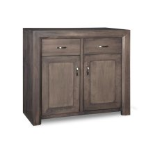 Contempo Sideboard w/2 Wood Doors & 2/Dwrs & 1/Wood Adjust.