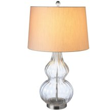 Oversized Textured Glass Lamp. 150W Max.