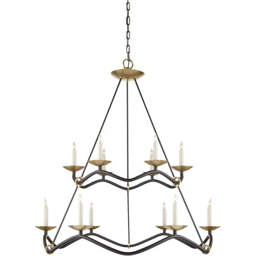 Visual Comfort S5041AI Barry Goralnick Choros 12 Light 37 inch Aged Iron Chandelier Ceiling Light