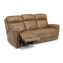 Sandlot Leather Power Reclining Sofa with Power Headrests