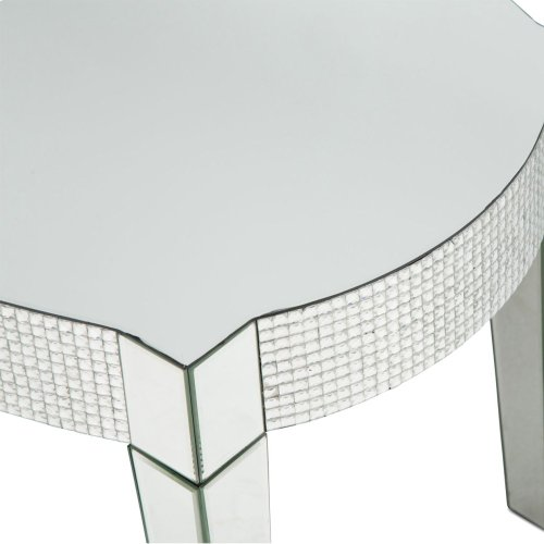 Mirrored Cocktail Table W/honeycomb Packing