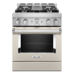 KitchenAidKitchenAid® 30'' Smart Commercial-Style Gas Range with 4 Burners - Milkshake
