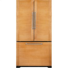 "Cabinet Depth French Door Refrigerator with Internal Dispenser, 72""(h), Custom Overlay"